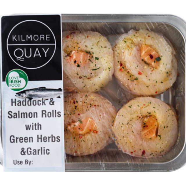 Kilmore Quay Green Herb & Garlic Haddock & Salmon Rolls