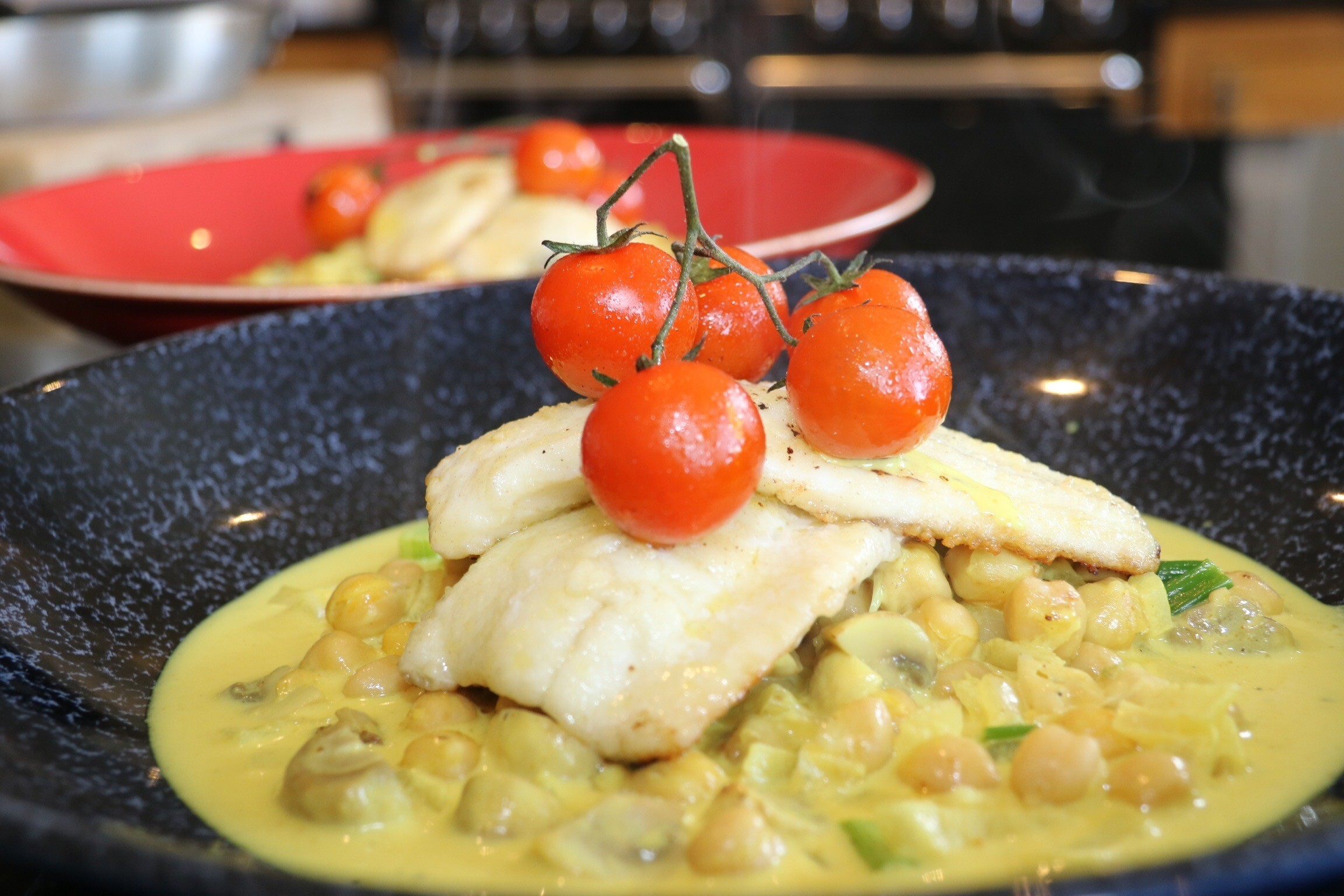 Pan-Fried Brill with a Chickpea & Mushroom Ragout by Siobhán Devereux Doyle