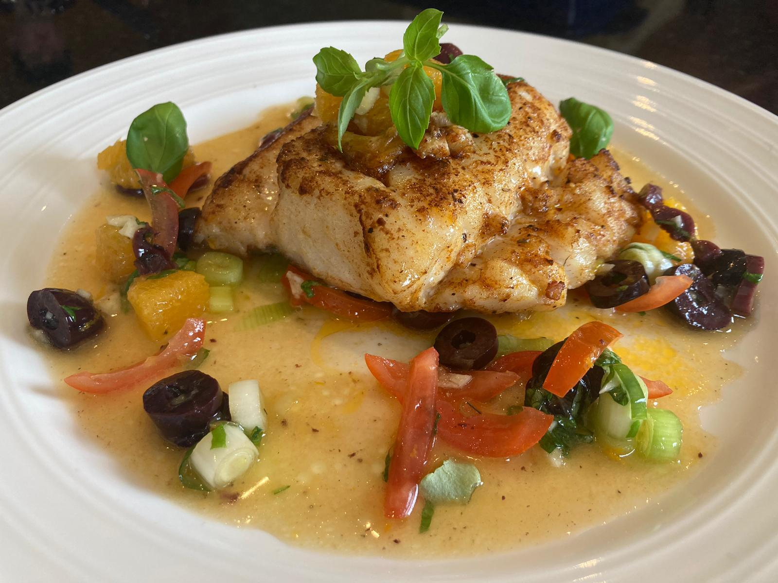 Cajun Cod with an Orange & Tomato Salsa by Consultant Chef Siobhán Devereux Doyle