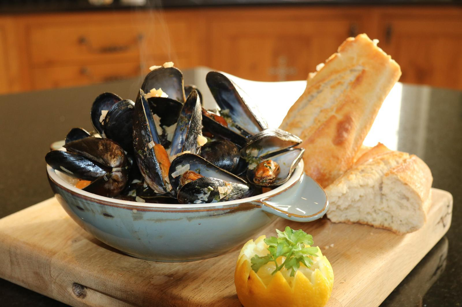 Steamed Mussels with Smoked Paprika & White Wine Cream Sauce by Siobhán Devereux Doyle