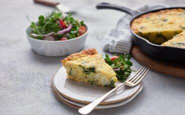 Crab, Spinach and Potato Frittata
