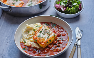 Poached Hake with a Simple Tomato Sauce