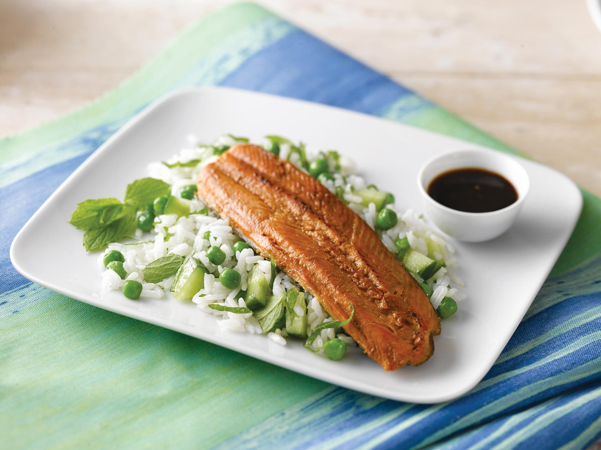 Soy and Honey Glazed Trout with Cucumber and Mint